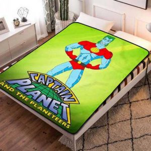 Captain Planet and the Planeteers Quilt Blanket Fleece Throw