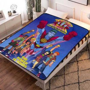 Captain Planet and the Planeteers Fleece Blanket Quilt