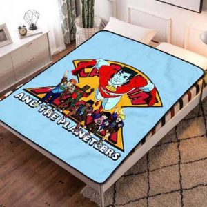 Captain Planet and the Planeteers Characters Quilt Blanket Fleece Bed Set