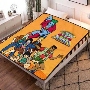 Captain Planet and the Planeteers Fleece Blanket Throw Quilt