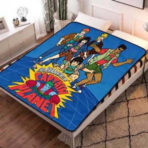 Captain Planet and the Planeteers Cartoon Fleece Blanket Throw Quilt