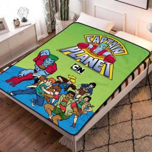 Captain Planet and the Planeteers Kids Fleece Blanket Throw Quilt