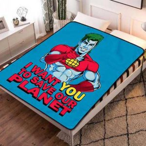 Chillder Captain Planet and the Planeteers Blanket. Captain Planet and the Planeteers Fleece Blanket Throw Bed Set Quilt Bedroom Decoration.