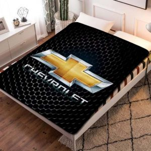 Chevrolet Car Logo Fleece Blanket Throw Bed Set