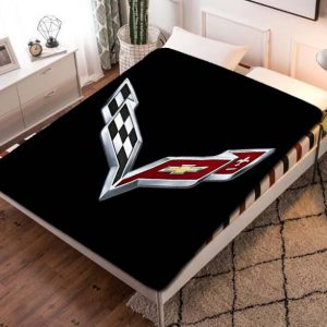 Chevrolet Corvettes Fleece Blanket Quilt