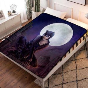 Catwoman Moon Fleece Blanket Quilt