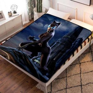 Catwoman Fleece Blanket Throw Bed Set