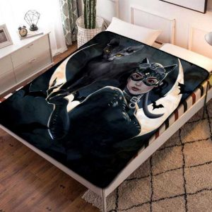 Catwoman Moon Fleece Blanket Throw Quilt