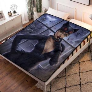 Catwoman Comic Fleece Blanket Throw Bed Set