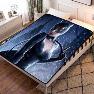 Catwoman Dark Knight Fleece Blanket Throw Bed Set