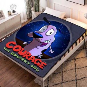Courage the Cowardly Dog Poster Fleece Blanket Throw Quilt