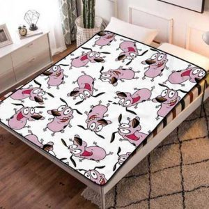 Courage the Cowardly Dog Pattern Fleece Blanket Quilt