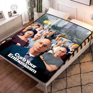 Curb Your Enthusiasm Fleece Blanket Throw Bed Set