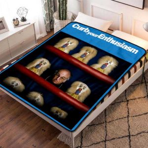 Curb Your Enthusiasm TV Show Quilt Blanket Fleece Bed Set