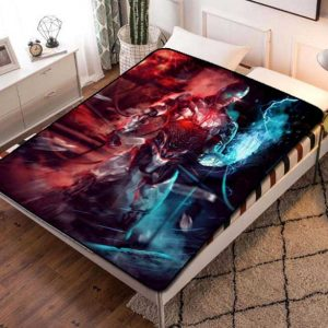 Cyborg Movie Justice League Fleece Blanket Throw Bed Set