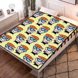 Dexter's Laboratory Cartoon Fleece Blanket Throw Bed Set