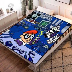 Dexter's Laboratory Shows Fleece Blanket Throw Quilt
