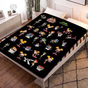 Chillder Dexter's Laboratory Blanket. Dexter's Laboratory Fleece Blanket Throw Bed Set Quilt Bedroom Decoration.