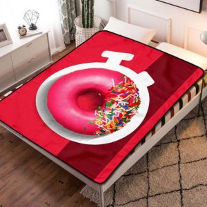 Dunkin' Donuts Toppings Fleece Blanket Throw Quilt