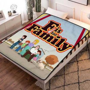 F Is for Family Fleece Blanket Throw Bed Set