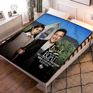 Fresh Off the Boat Fleece Blanket Throw Bed Set