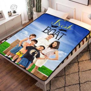 Fresh Off the Boat Series Fleece Blanket Throw Quilt