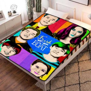 Fresh Off the Boat Series Fleece Blanket Quilt