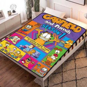 Garfield & Friends Characters Fleece Blanket Throw Quilt