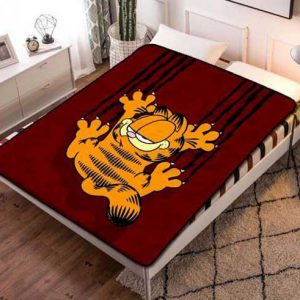 Garfield Cartoon Fleece Blanket Throw Bed Set
