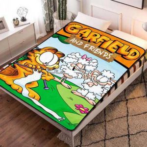 Garfield & Friends Fleece Blanket Throw Bed Set