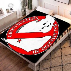 Chillder Ghostbusters Blanket. Ghostbusters Fleece Blanket Throw Bed Set Quilt Bedroom Decoration.