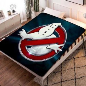 Ghostbusters Wallpaper Fleece Blanket Throw Bed Set