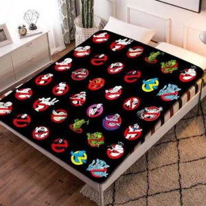 Ghostbusters Patterns Fleece Blanket Throw Quilt
