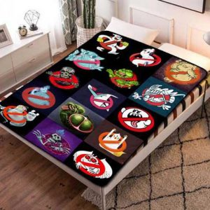 Ghostbusters Cartoon Fleece Blanket Throw Bed Set