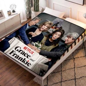 Grace and Frankie Fleece Blanket Throw Bed Set