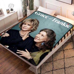 Grace and Frankie Fleece Blanket Throw Quilt