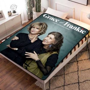 Grace and Frankie Fleece Blanket Quilt