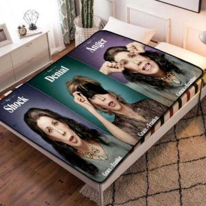 Grace and Frankie Shock Denial Anger Quilt Blanket Fleece Bed Set