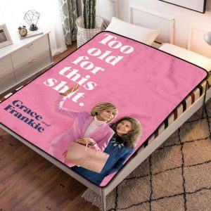 Grace and Frankie TV Shows Quilt Blanket Fleece Throw
