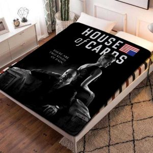 House of Cards TV Shows Fleece Blanket Throw Bed Set