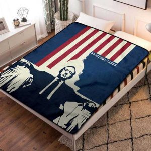 Chillder House of Cards Blanket. House of Cards Fleece Blanket Throw Bed Set Quilt Bedroom Decoration.