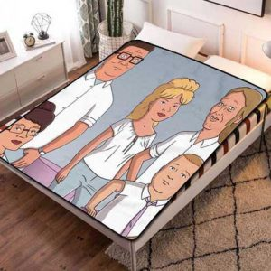 King Of The Hill Family Fleece Blanket Throw Quilt