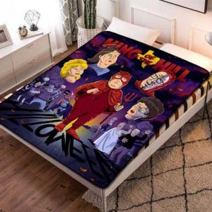 King Of The Hill Characters Fleece Blanket Throw Bed Set