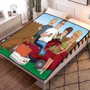 King of the Hill Quilt Blanket Fleece Bed Set