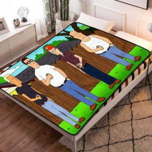 King Of The Hill Characters Fleece Blanket Throw Quilt