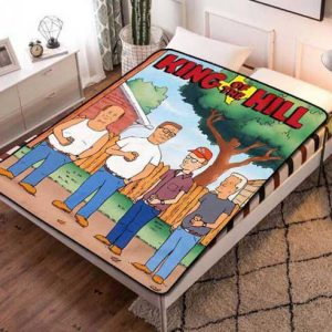 Chillder King of the Hill Blanket. King of the Hill Fleece Blanket Throw Bed Set Quilt Bedroom Decoration.