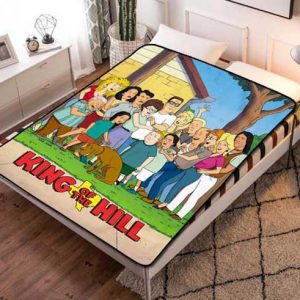 King of the Hill Characters Fleece Blanket Quilt