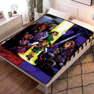 The Legend of Zelda Characters Fleece Blanket Quilt