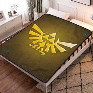 The Legend of Zelda Logo Quilt Blanket Throw Fleece