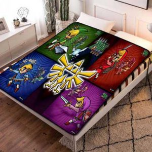 Chillder The Legend of Zelda Blanket. The Legend of Zelda Fleece Blanket Throw Bed Set Quilt Bedroom Decoration.